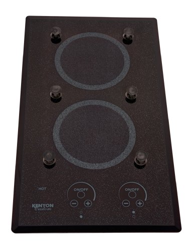 Kenyon B40576Pups 6-1/2-Inch Lite-Touch Q 2-Burner Cooktop With Pups And Touch Control, 240-Volt, Black