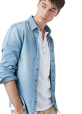 MANGO MAN - Slim-fit light denim Denim shirt
