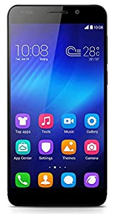 Honor 6 4G UK Smartphone (5 inch, Touchscreen, Octa-Core, 3GB RAM, 16GB ROM, 13MP rear camera, 5MP front camera, LTE CAT6, Android 4.4, EmotionUI 2.3) Black