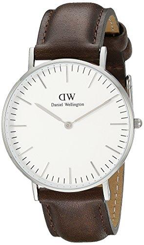 Daniel Wellington 0209DW - Reloj analógico de cuarzo para hombre con correa de piel, color marrón