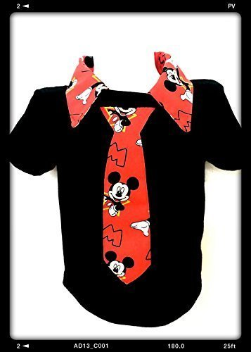 Mickey mouse boys Polo Shirt Toddler boy's necktie shirt baby bodysuit size 12 mo, 2 T, 3T,4T,5T.6-7 Yrs