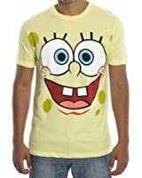 Spongebob Square Pants Big Open Smile Face Yellow T-shirt