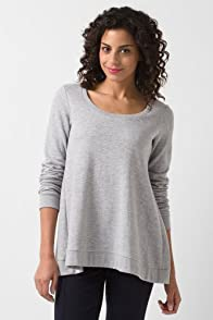 Long Sleeve Scoopneck A-Line Sweatshirt