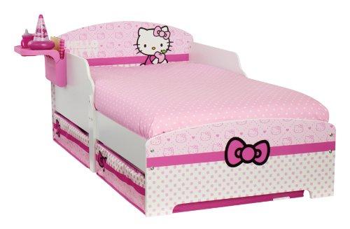 Hello Kitty Lit pour enfant avec rangement et table de nuit