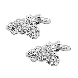 Motorcycle Silver Cufflinks