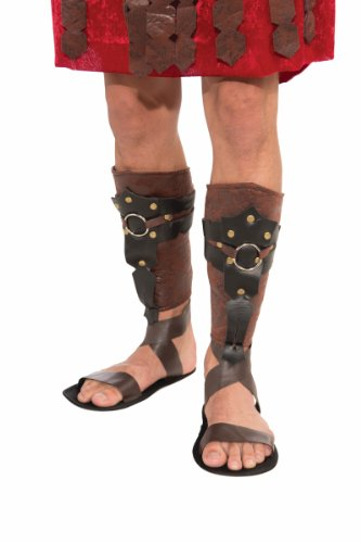 Roman Gladiator Costume Leg Guards Adult