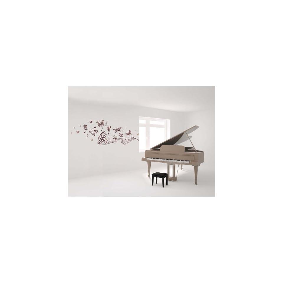 Vinyl Wall Art Decal Sticker Saxophone w/ Music Notes, Big