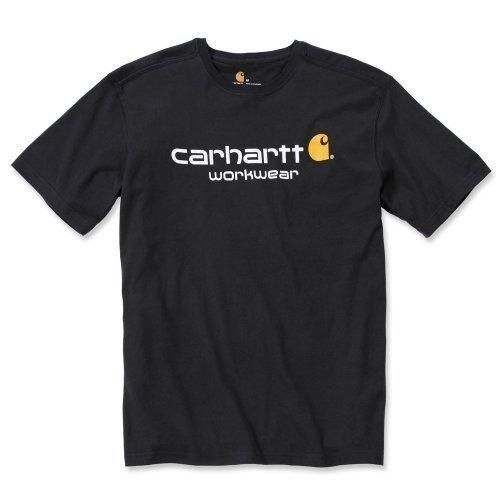 Carhartt Workwear, Maglietta da lavoro con logo 001, taglia M, Nero, 101214