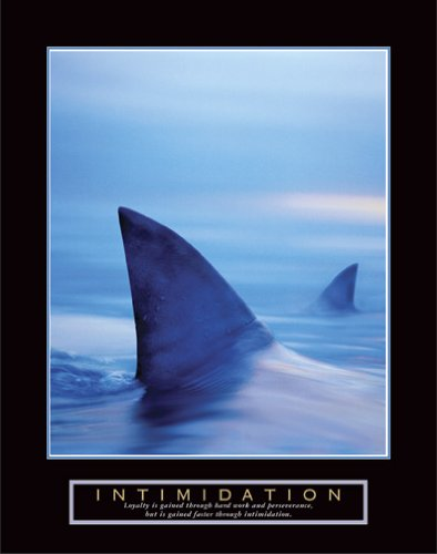 Intimidation Shark Fin Funny Motivational Poster/Print for Sales Free ...