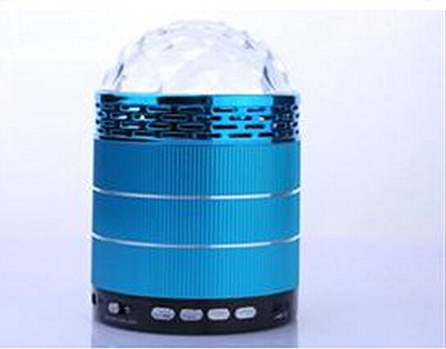 Hossen® Mini Led Colorful Rotating Wall Lamp, Led Stage Lights With Switch, Rgb W528 Mini Magic Ball Red