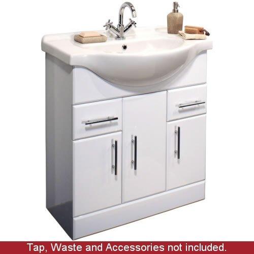 750mm White Bathroom Vanity Unit