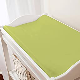 Carousel Designs Solid Citron Changing Pad Cover