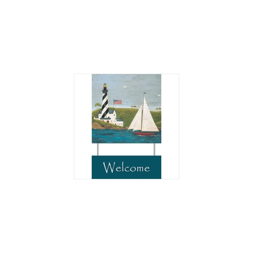 Papyrus  Coastal Breeze Welcome Sign   Warren Kimble Home & Kitchen