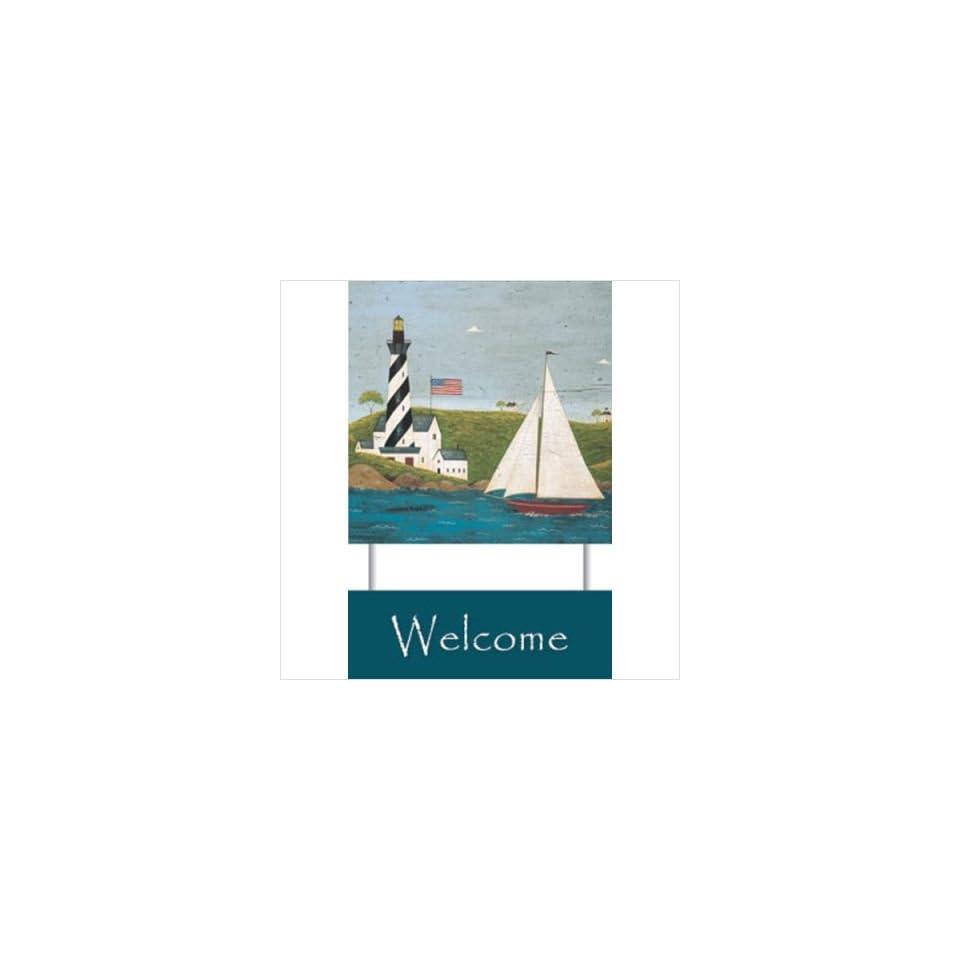 WeatherPrint 60160808 Standard Papyrus  Coastal Breeze Welcome Sign   Warren Kimble