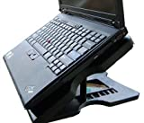 Black Adjustable 6 Levels Protector USB Cooling Cooler Laptop 3 Fans Pad with 4 USB 2.0 Ports for Sony HP Dell Samsung Toshiba Advent Compaq,Packard Bell pcs laptops