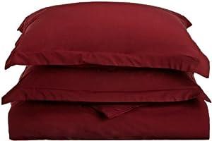 Clara Clark 1500 Series Duvet Cover, Full Queen, Burgundy Red