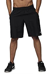High On Game Running and All Sports Basic Black Shorts