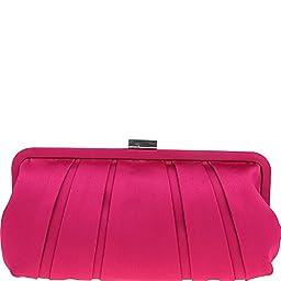 Nina Handbags Logan Clutch (Berry)
