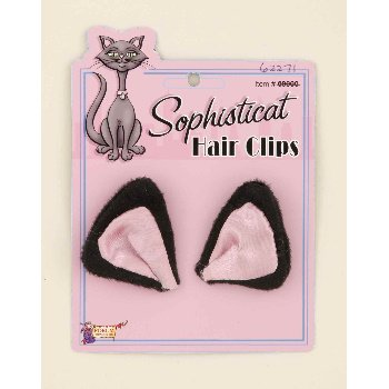 Sophisticat Black Cat Ear Hairclips Accessory - 1