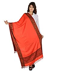 Figaro Red Viscose Woven Women's Shawl