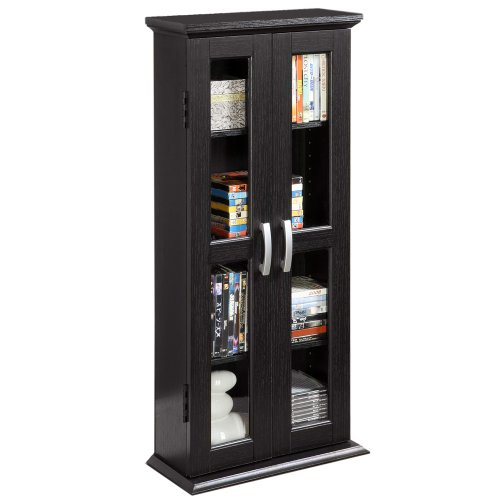 Walker Edison 41-Inch DVD Tower, Black