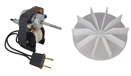 Universal Bathroom Fan Replacement Electric Motor Kit with Fan 115 volts C01575 by Century Electric Motors