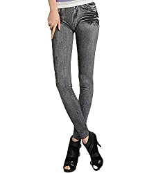 isweven Girls Slim Fit Jeggings(j17 Black Free Size)