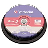 Verbatim BD-RE 25GB 2X with Branded Surface, 10 Pack Spindle Box 43694