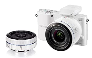 Samsung NX1000 Digital Compact System Camera Twin Kit - White (20-50MM F3.5-5.6 II and 16MM F2.4 Lens, 20MP)