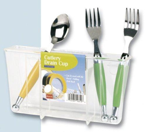 Cutlery Holder Clear  4 5 H x 7 75 W x 2 25 DB0000Y8H3S : image