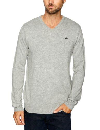 Quiksilver - Maglia jumper, uomo, Grigio (Light Grey Heath), S