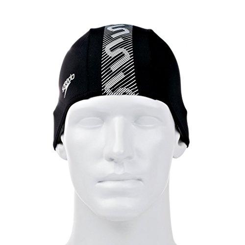 speedo-monogram-endurance-plus-swim-cap-gorro-de-natacion-unisex-color-negro-blanco-talla-unica