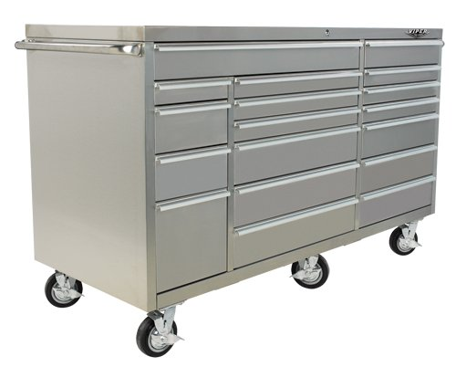 Images for Viper Tool Storage VP7218SS PRO 72-Inch 18-Drawer 304 Stainless Steel Rolling Cabinet