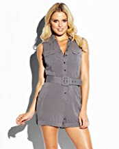 bebe Sleeveless Silk Romper