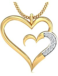 Stylori 18k Yellow Gold And Diamond Corazon Reflect Pendant