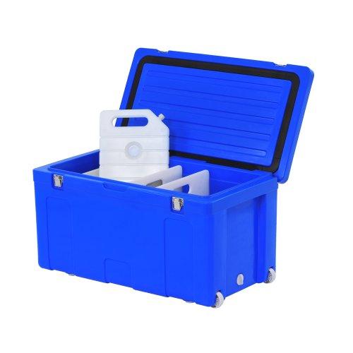 "Sandusky MC102L Marine Cooler, 107 qt Capacity, 35"" Width x 20"" Height x 19"" Depth, Blue"