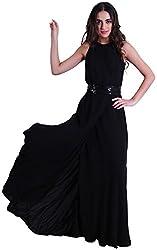 D&S Women's A-line Dress (Black, S)