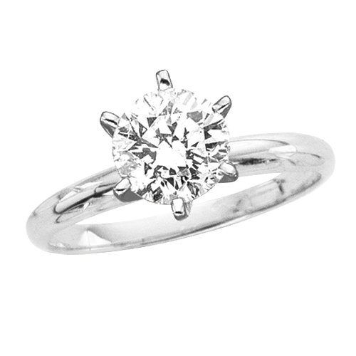 2 ct. D – VS1 GIA Certified Round Brilliant Cut Diamond Solitaire Ring (White or Yellow Gold)