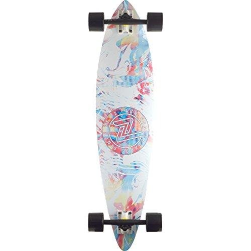 Z-Flex Skateboards Acid Swirl Pintail White Complete Skateboard - 9