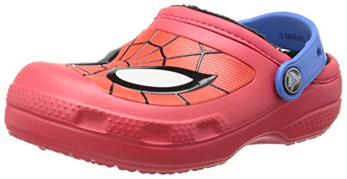 Crocs 16300 Spiderman Lined Clog ,Red,12 M US Little Kid