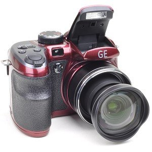 GE X500 16MP 15x Optical/6x Digital Zoom HD Camera (Burgundy Red) Picture
