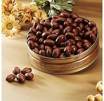 Chocolate Covered Almonds Gift Pinecone Tin - 20 Oz.