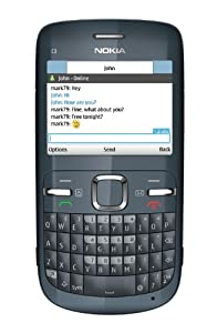 Nokia C3 Graphite - 2 MP Camera Bluetooth Mobile Phone on Vodafone PAYG