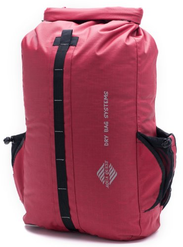 Aqua Quest 'Sport 30' Waterproof Backpack Dry Bag – 30 L / 1800 cu. in. Red Model