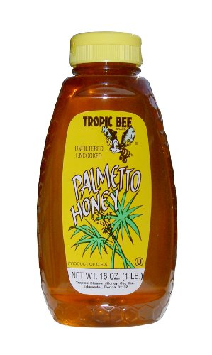 Tropic Bee Palmetto Honey, 16-Ounce Bottles (Pack of 4)