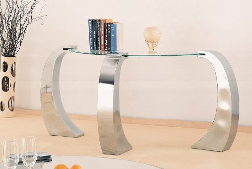 Cheap Unique Design Glass Top Occasional Sofa Console Table (VF_720059)