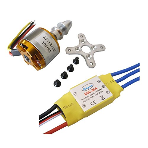 Hobbypower A2212 1000kv Brushless Motor + 30a ESC for Multicopter 450 X525 Quadcopter (4 Brushless Motors Quadcopter compare prices)