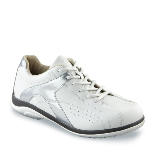 Oasis Women's Chrissie Diabetic Shoes,White/Silver,10.5 W US (Oasis Diabetic Shoes compare prices)