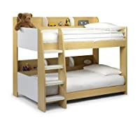 Julian Bowen Domino Bunk Bed - Maple & White Size 90 cm