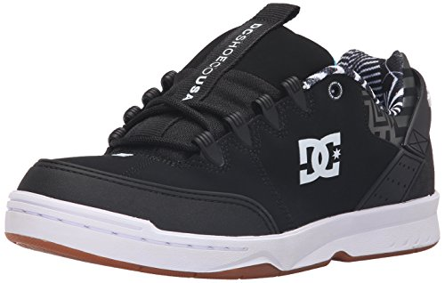 DC Men's Syntax KB Skate Shoe, Black/White/Gum, 9.5 M US